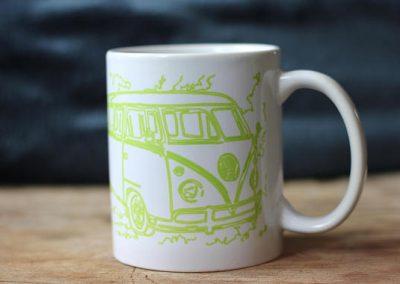 Bulli Volkswagen T2 mug limegreen by ArteMie