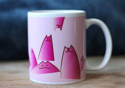 Cartoon Cat Mug Blue by ArteMie