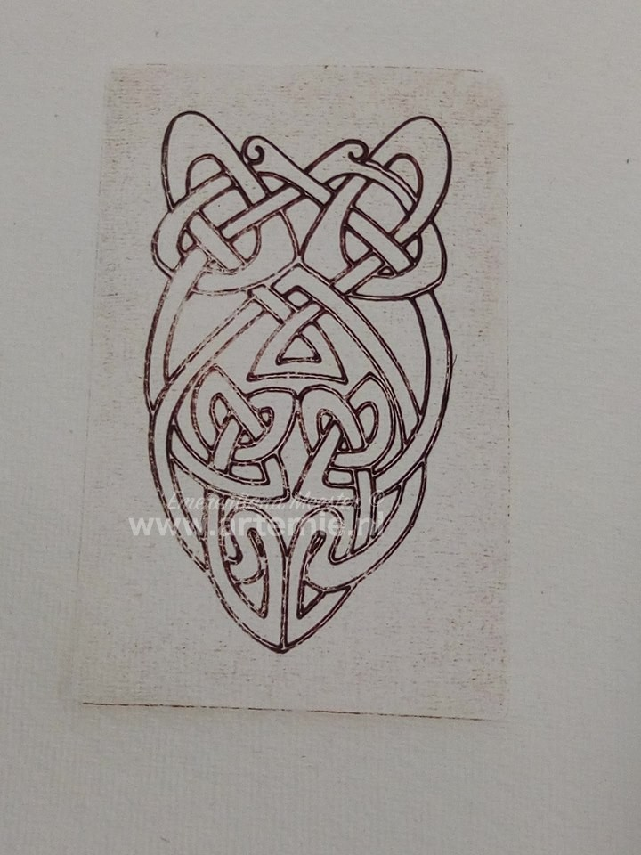 photo of celtic knot etching