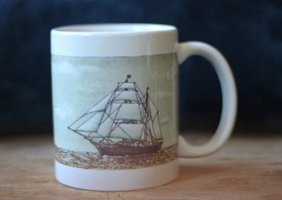 Tres Hombres shaded coffee mug by ArteMie