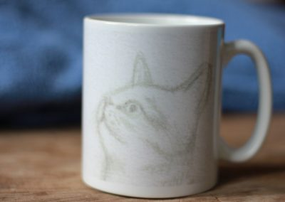 Mug with Cat Sketch