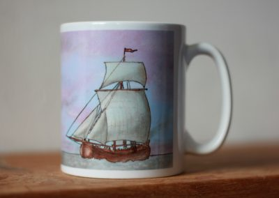 Vishoeker II sailing vessel cartoon mug