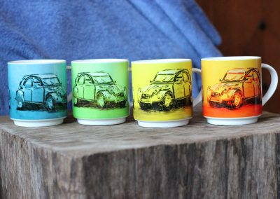 citroen mugs in 4 colours