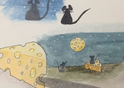 Mice and the Holy Cheesemoon sketches by ArteMie